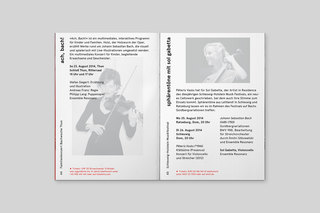 Brochure for Ensemble Resonanz / In collaboration with Perfect Day