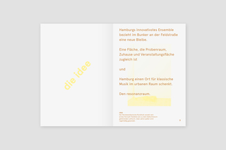 Book concept and design for Resonanzraum / In collaboration with Perfect Day