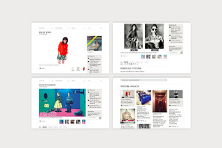 Website design for a fashion blogazine / Done at Superreal